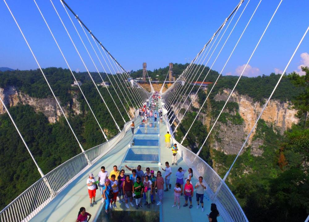 <p>The bridge, at six metres wide, is strong enough to hold a car. (Getty Images)</p>