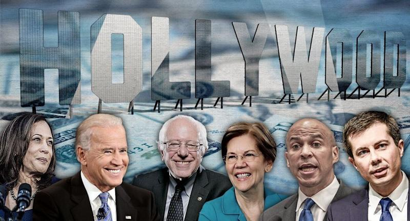 Kamala Harris, Joe Biden, Bernie Sanders, Elizabeth Warren, Cory Booker and Pete Buttigieg. (Photo illustration: Yahoo News; photos: AP, Getty Images)