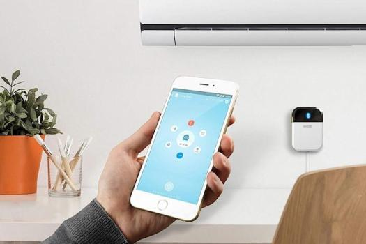 """<a href=""""https://amzn.to/3iAzKK7"""" rel=""""nofollow noopener"""" target=""""_blank"""" data-ylk=""""slk:The Sensibo Sky is a smart AC controller"""" class=""""link rapid-noclick-resp"""">The Sensibo Sky is a smart AC controller</a> that turns any air conditioner into a smart air conditioner. (Photo: Amazon)"""
