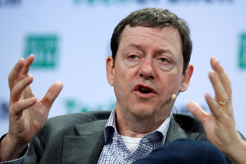 Fred Wilson, the co-founder of Union Square Ventures, speaks during the TechCrunch Disrupt event in Brooklyn borough of New York, U.S., May 10, 2016. REUTERS/Brendan McDermid