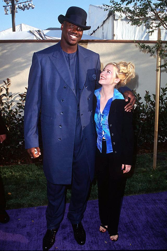Shaquille O'Neal and Alicia Silverstone