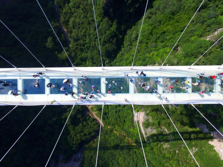 <p>In the future adventurous types will be able to bungee jump or ride a zip line from the bridge. (Getty Images)</p>