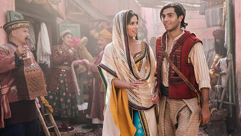 Jasmine (Scott) and Aladdin (Massoud) (Credit: Disney)