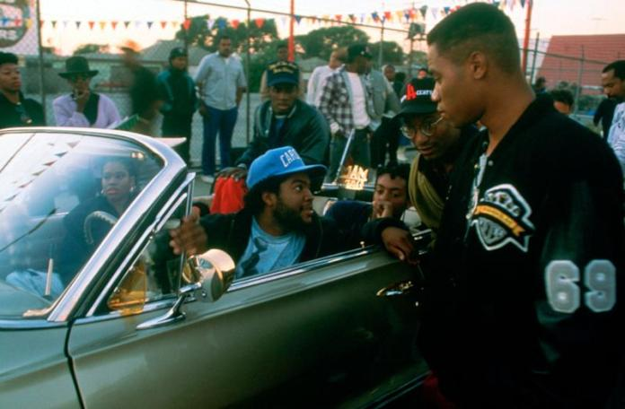 From left: Ice Cube, director John Singleton, Cuba Gooding Jr. (Photo: Columbia Pictures/courtesy Everett Collection