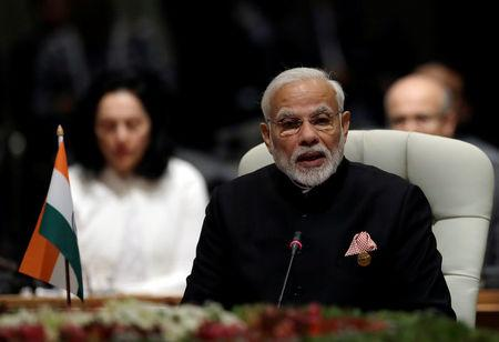 Indian Prime Minister Narendra Modi speaks during the BRICS Summit in Johannesburg, South Africa, July 26, 2018. REUTERS/Themba Hadebe/Pool via REUTERS
