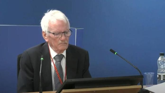 <strong>Senior fire consultant Terry Ashton giving evidence.</strong> (Photo: PA Media)