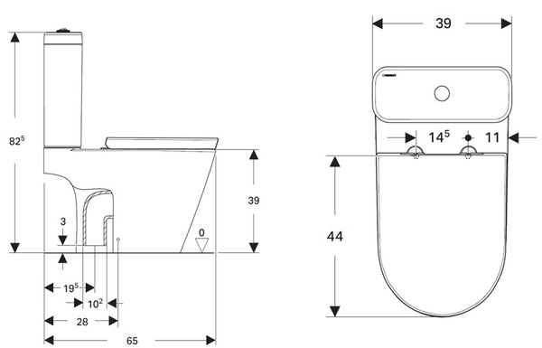 【麗室衛浴】德國高級GEBERIT ETERNITY 系列 雙體馬桶 A-193