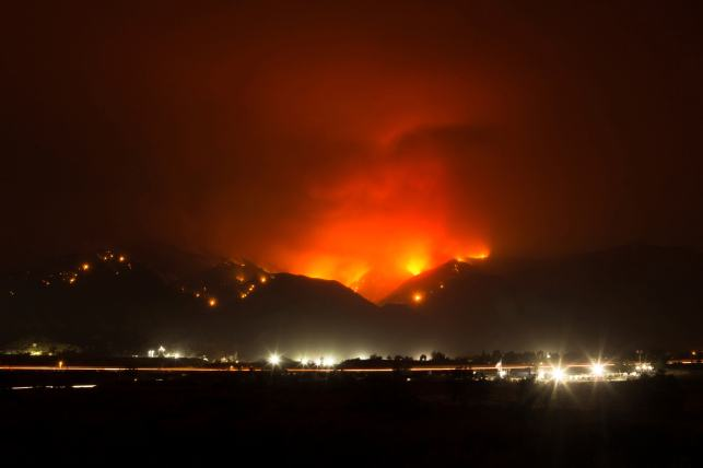 The Latest: Winds still driving Southern California fire