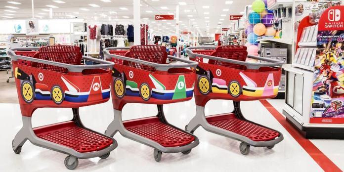 "Target teams with Nintendo for ""Mario Kart"" shopping carts"