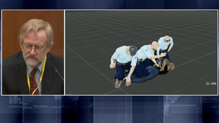 Dr. Martin Tobin simulates how George Floyd couldn't breathe