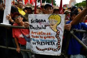 Resultado de imagen para venezuela manifestacion contra bachelet
