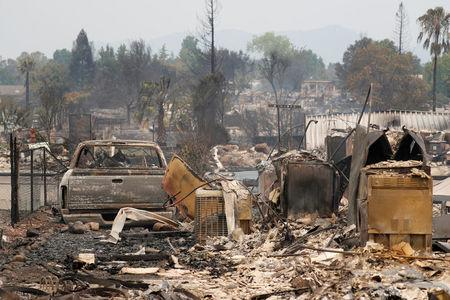 Mangled boats, bikes all that remain in wake of California fire