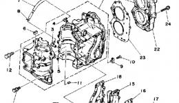 Запчасти для лодочного мотора YAMAHA 15SD 1990 г. купить
