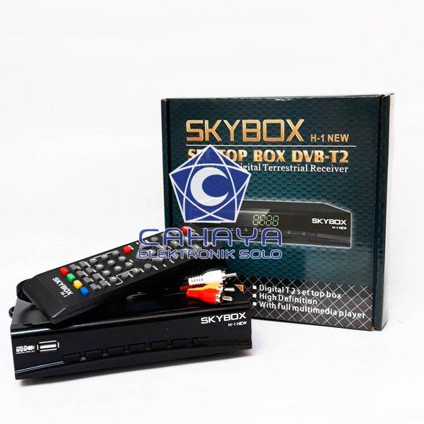 Receiver TV DVBt2 H-1 NEW Skybox Antena Set Top Box UHF HDMI Digital