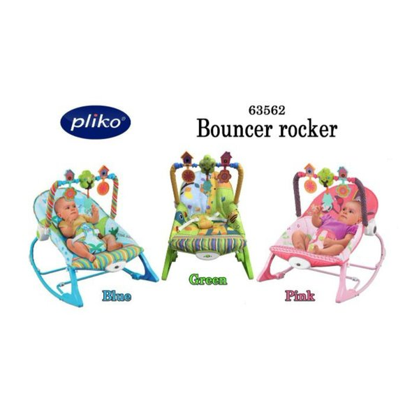 Infant to Toddler Rocker Pliko - Bouncer - Ayunan Kursi Goyang Bayi Manual