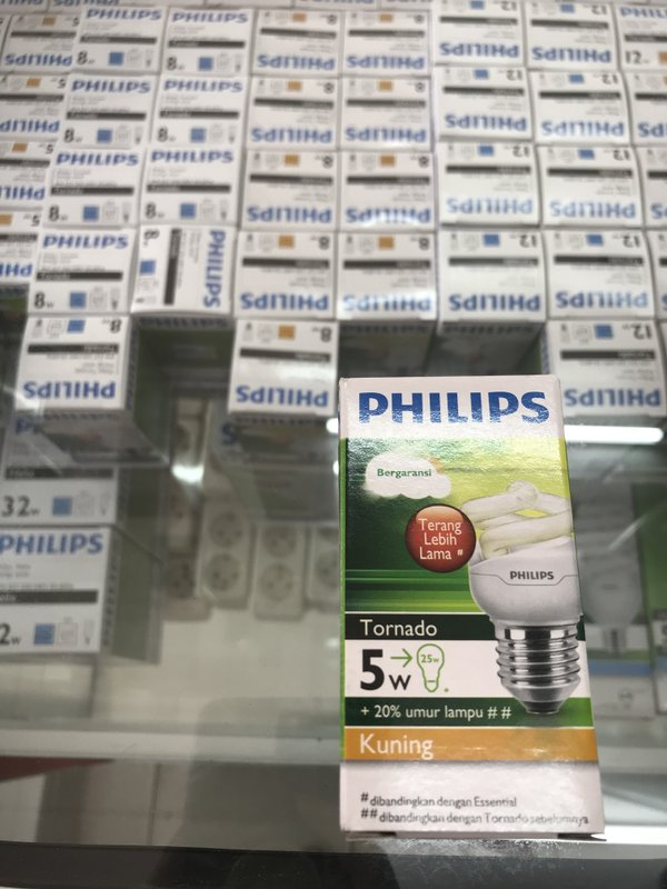 lampu tornado philips 5 watt