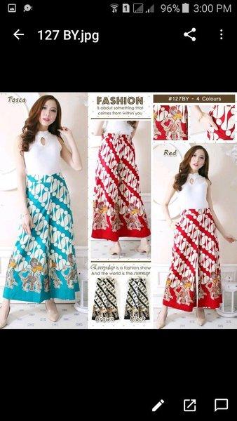 Celana Panjang Wanita - Kulot Batik Modern - Bawahan Batik Modern - Baywalk Cullotess