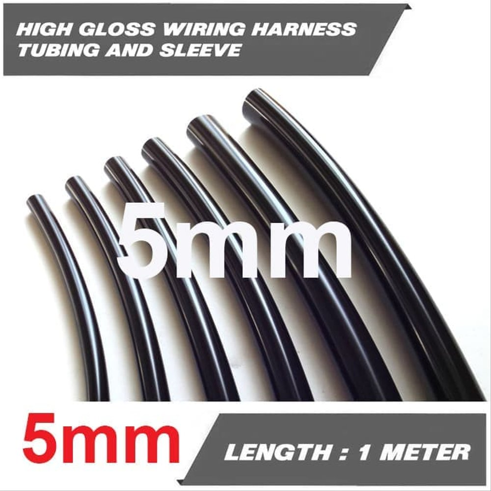 hight resolution of selongsong kabel karet high gloss wiring harness tubing 5 mm