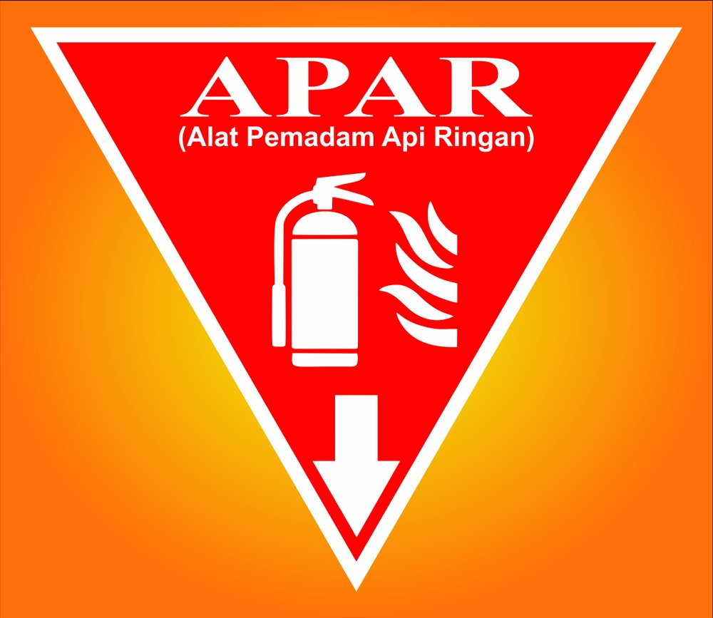 Jual STIKER SAFETY SIGN  APAR Uk 24 cm x 24 cm x 24 cm
