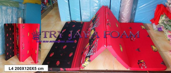 Kasur Lipat 4 Busa Inoac UK 200x120x5 cm murah new good original ter