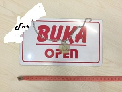 Plat Papan Open Close Buka Tutup Sign Board Acrylic dengan rantai