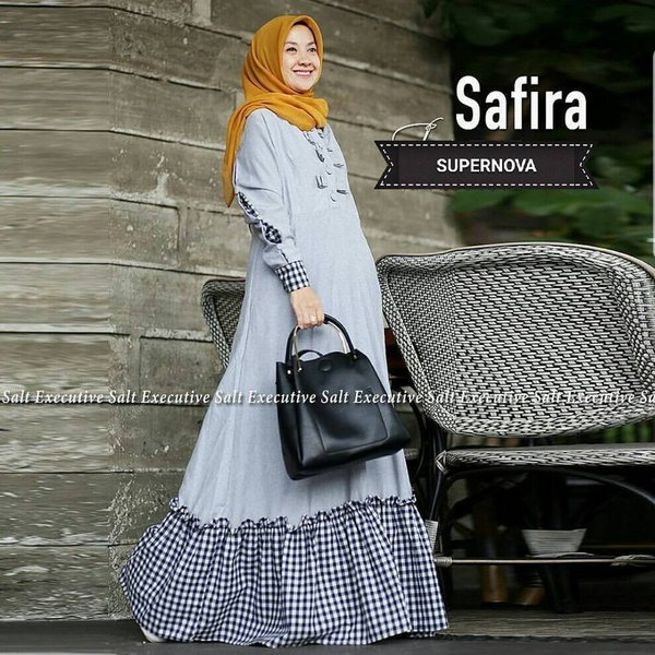 Jual Model baju muslim terlaris  Safira dress Diskon