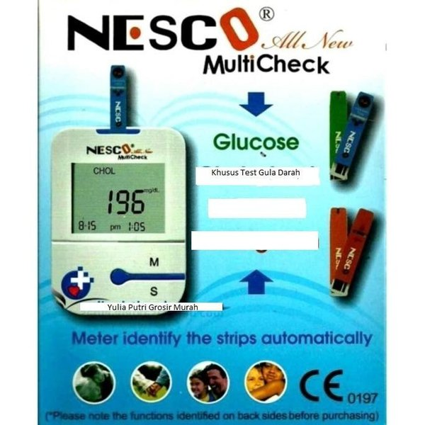 Promo Alat Nesco Cek Gula Darah Tes Diabetes All New Nw03 Bonus Strip 25 Kualitas Ok