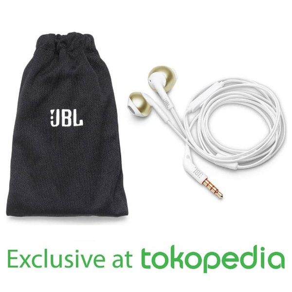 Promo JBL T205 Earphone   Black   Exclusive    Putih Murah