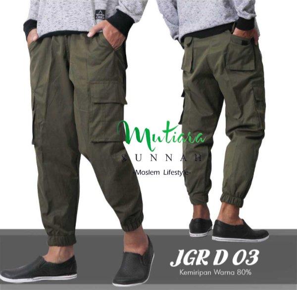 Jogger Pants - Celana Jogger - Sirwal Jogger - Celana Jogging Pria - Celana Olahraga - JGR D 03