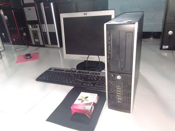 Paket Komputer core i5 HP DDR3 lengkap monitor mouse keyboard