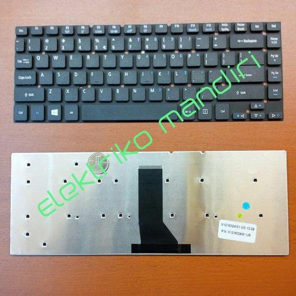 Aksesoris Laptop Keyboard Acer Aspire E5-472G E5-411 E5-411G E5-421 E5-421G atau  Hitam - US