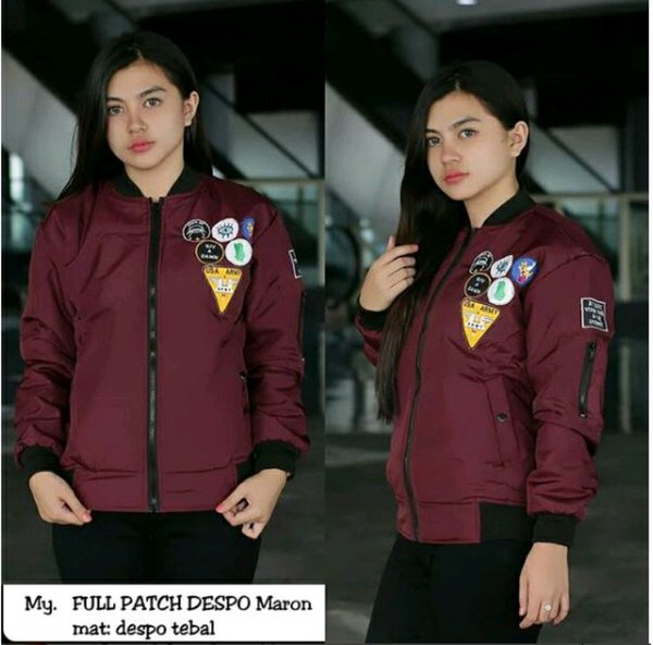 Jaket Bomber Wanita Full patch