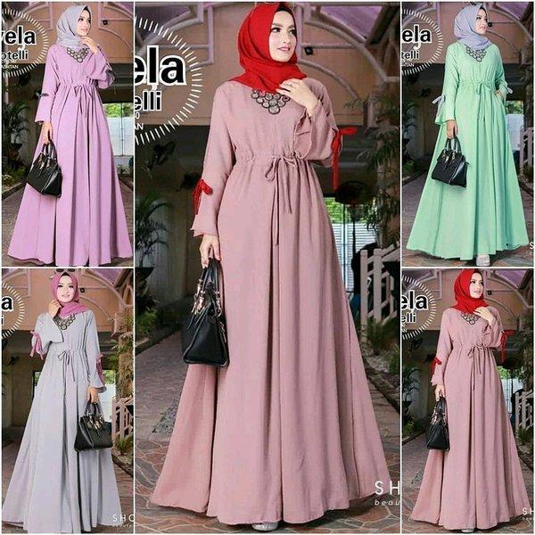 SAVELA Baju Wanita Muslim Terbaru Baju Wanita Muslim Murah Baju Gamis Murah Dress Panjang Murah