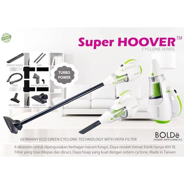 Bolde Super Hoover Vacuum Cleaner Cyclone Hepa Filter Vakum Terbaik