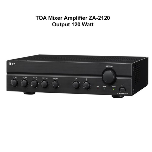 TOA ZA-2120 Mixer Power Amplifier 120Watt