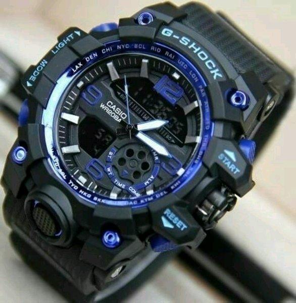 jam tangan pria Casio G-Shock GG1000 list biru kw super