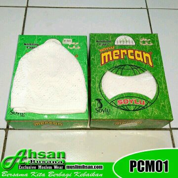 Peci Haji Putih Mercan Turki PCM01