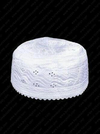 Perlengkapan haji dan umroh peci haji putih oleh oleh haji umroh.