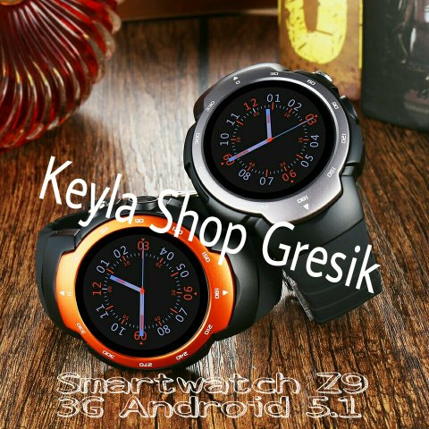 HOT Promo NEW Smart watch Heart rate monitor W Z 9 wrist band 3G bluetooth 4.0 OS Android L 5.1 with Play store MTK 6580 Quad core SIM CARD GSM Camera support Wifi Google Maps Jam Tangan Pintar cerdas Arloji HP hand phone canggih KEYLA SHOP GRESIK