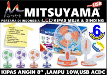 Kipas Angin Portable Emergency LED dan Powerbank Mitsuyama MS 5536
