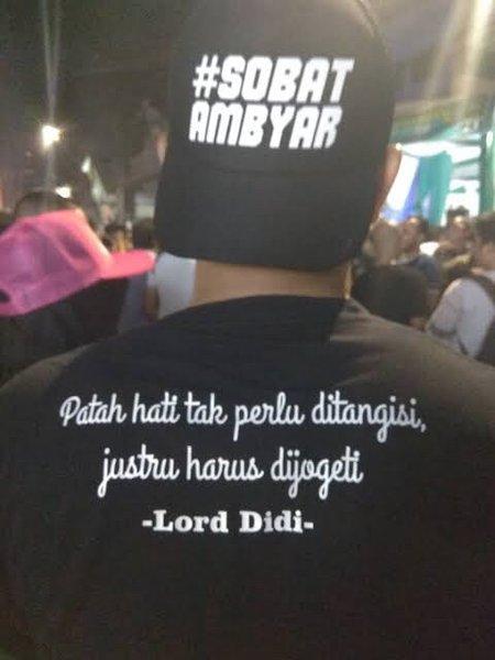 Jual Kaos Plus Topi Sobat Ambyar Baju Tshirt Cidro Didi Kempot