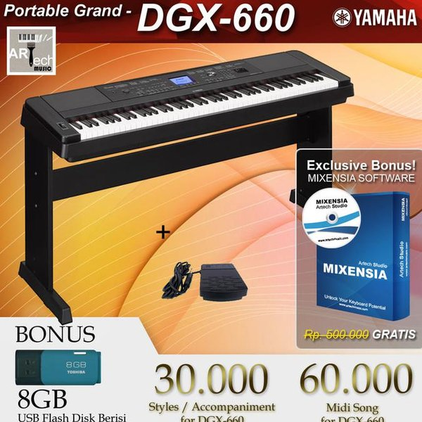 Order Yamaha Dgx 660 . Dgx-660 . Dgx660 Black . White - Digital Piano