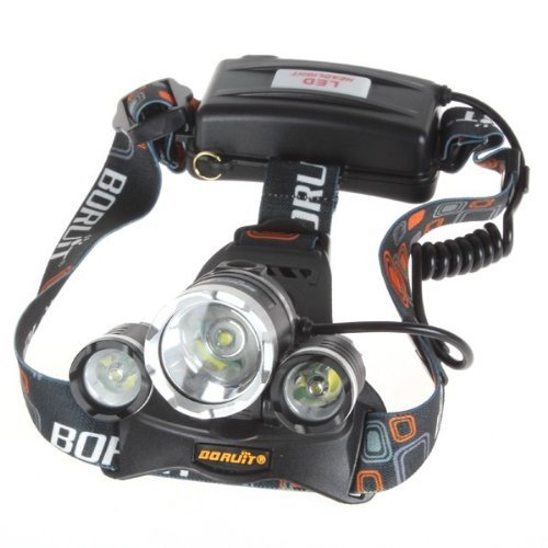 Senter Kepala T6 Boruit Headlamp LED Cree 5000 Lumens Super Terang H