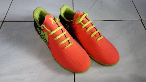 Sepatu footsal adidas xtechfit kw warna hitam pink
