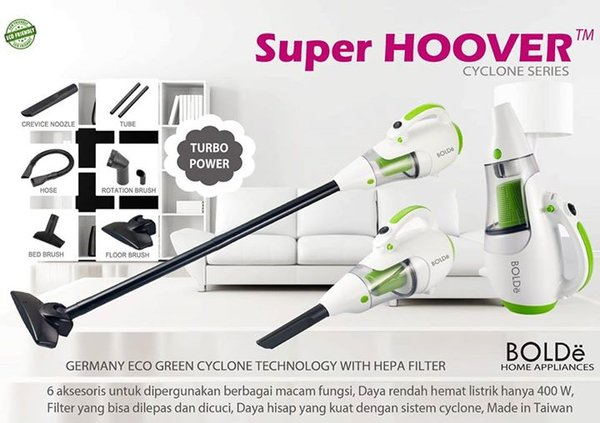 Sale VACUUM CLEANER BOLDE SUPER HOVER Hepa filter 2in1 spt vacum ez h
