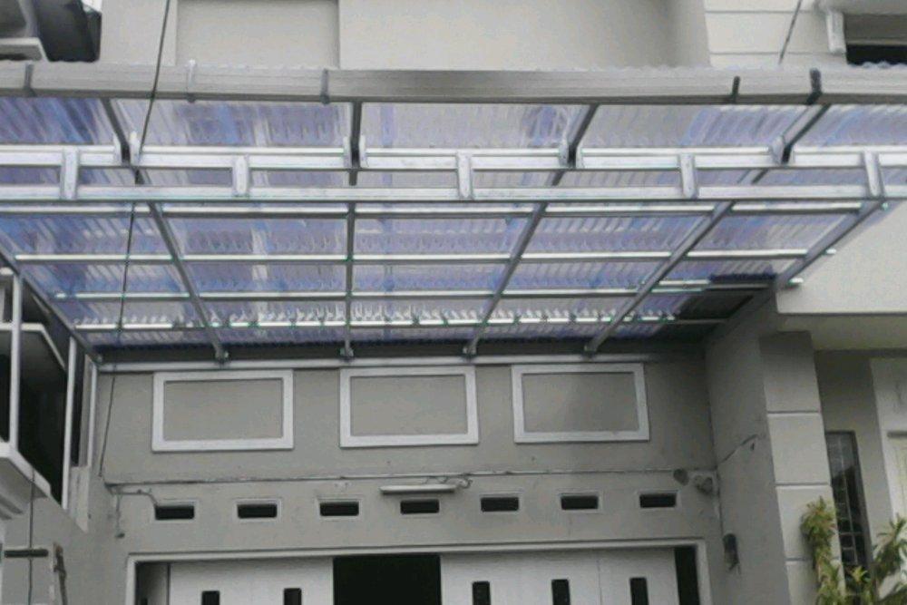 kanopi baja ringan atap kaca jual transparan di lapak tegal sugih sarwono