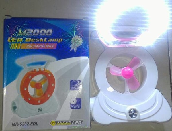 lampu emergency M2000 senter kipas