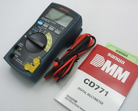SANWA CD771 DIGITAL MULTIMETER MULTITESTER AVOMETER JAPAN