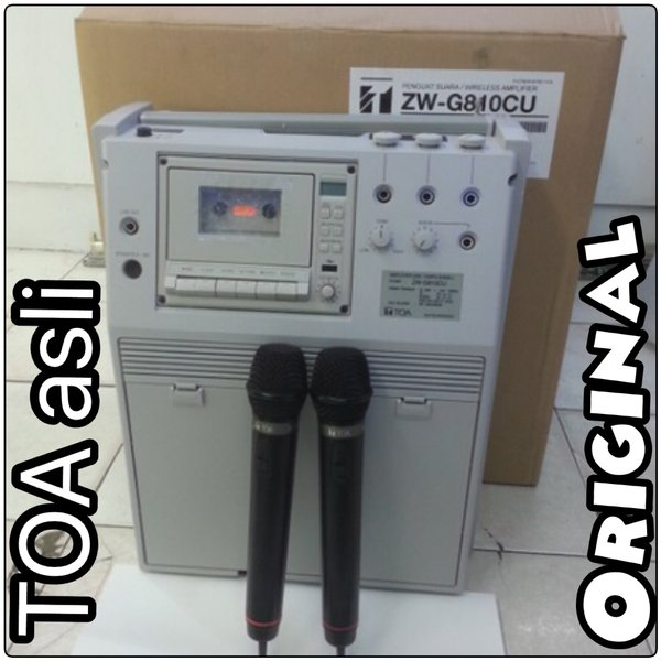 Murah!!!!!!Portable Public Address Amplifier TOA ZW-G810 Original TOA Resmi