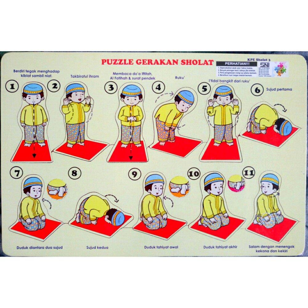 Jual Puzzle Edukasi Gerakan Sholat Lakilaki Puzzel Puzle